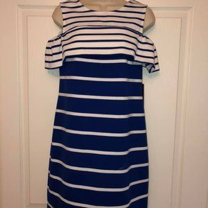 Vince Camuto Blue and White Striped Dress